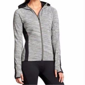 Athleta Snowscape Quilted Texture Hooded Jacket
